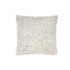 Luxusní povlak na polštářek s dlouhým vlasem 40x40 - Krémový