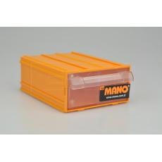 Plastový organizér do dílny MANO K-20 (14x10x5cm) - Žlutý