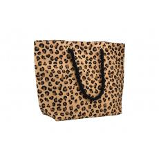 Plážová taška 50x36 cm Safari Leopard hnědá