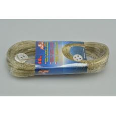 Šňůra na prádlo s ocelovým lankem a upevňovacím knoflíkem (30m)