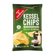 GG Kotlíkové chipsy Mořská sůl & Ocet 150g
