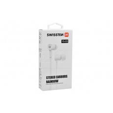 Stereo sluchátka s mikrofonem SWISSTEN YS-D2 - Bílé