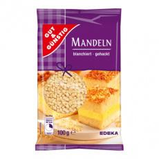 GG Mandle jemně nasekané, blanšírované vhodné na pečení 100g