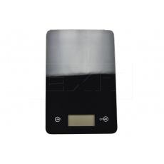 Skleněná kuchyňská digitální váha EH (23x15cm) do 5kg - Černá