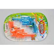 Sada 2ks dětských pistolí na vodu WIKY - Modrá a oranžová (14cm)