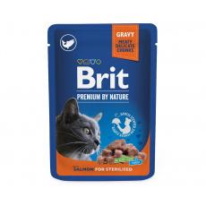 Brit Premium Cat Pouches Salmon for Sterilized 100 g