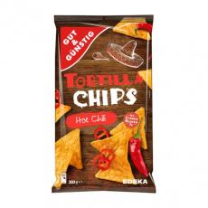 GG Tortilla chips Hot Chili pečené na slunečnicovém oleji 300g