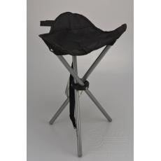Kempingová stolička trojnožka REDCLIFFS - Černá (45cm)