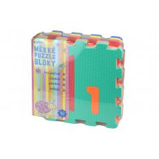 Měkké puzzle bloky (32cm) s číslicemi - Set 10ks