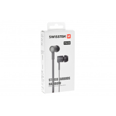 Stereo sluchátka s mikrofonem SWISSTEN YS-D2 - Černé