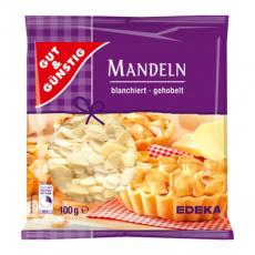 GG Mandle plátky, blanšírované vhodné na pečení 100g
