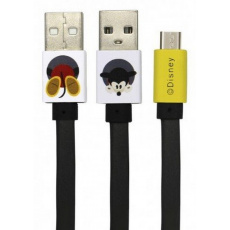 Disney Mickey datový kabel microUSB, Black