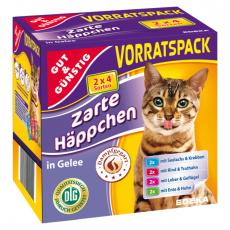 GG Kapsičky pro kočky 8 druhů masa ve želé 8x100g