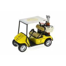 Golfové vozítko na setrvačník (10 x 7 cm) žluté