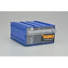 Plastový organizér do dílny MANO MK-30 (12x11x6cm) - Modrý