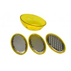 4-dílné struhadlo se zásobníkem BANQUET - Žluté (26x10,2x10,8cm)