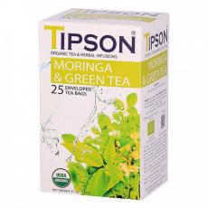 Tipson BIO Moringa a zelený čaj 25x1,5g