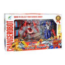 Transformační roboti TP20-0060 - 2ks, červený, modrý