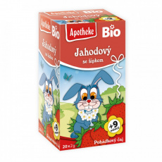Apotheke BIO Dětský čaj Jahodový se šípkem 20x2g
