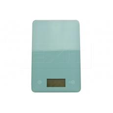 Skleněná kuchyňská digitální váha EH (23x15cm) do 5kg - Tyrkysově zelená