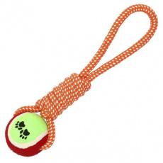 Psí hračka lano s míčkem 28cm