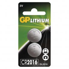 GP CR2016 Lithiová knoflíková baterie (2ks)