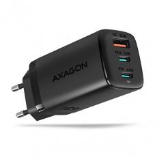 AXAGON ACU-DPQ65, GaN nabíječka do sítě 65W, 3x port (USB + dual USB-C), PD3.0/QC4+/PPS/Apple