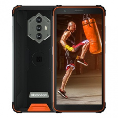 iGET Blackview GBV6600 Orange odolný telefon, 5,7'' HD+ IPS, 4GB+64GB, DualSIM, 4G, 8580 mAh, NFC