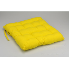 Podsedák na židli (40x40x6cm) - Žlutý