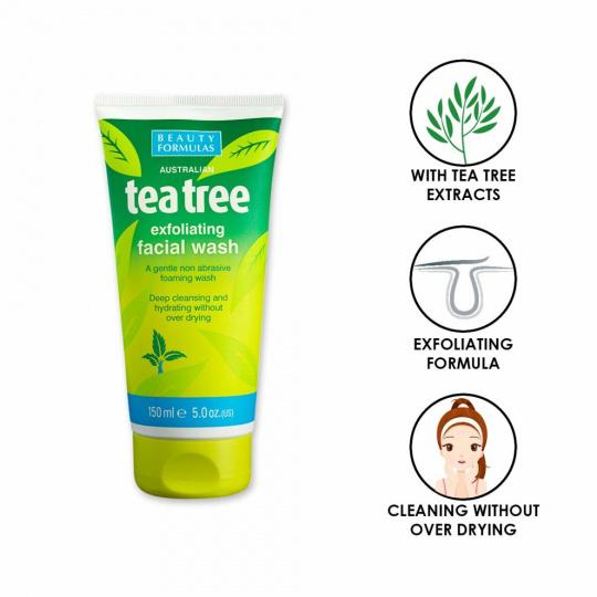 BEAUTY FORMULAS pleťový mycí gel Tea Tree 150ml