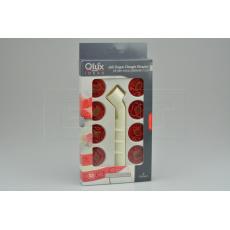 Set 8ks cukrářských vykrajovátek/razítek na marcipán (3cm) QLUX - Červený