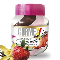 Gurmex Cream Triple Chocolat jahoda vanilka 350g