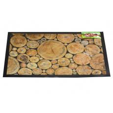Bytová rohožka PERFECT HOME 40x60cm - Dřevěná mozaika, klády