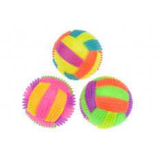 Barevný gumový blikací míček GAZELO (7cm) - Mix barev 1ks