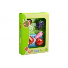 Rozpůlené ovoce na suchý zip GAZELO - Set s prkýnkem a nožíkem