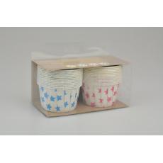 Cukrářské papírové košíčky s motivem hvězdiček - EH do 220°C , 24 ks