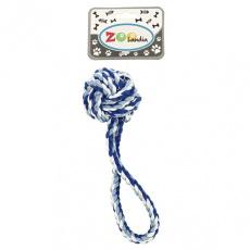 Psí hračka ve tvaru modrého lanového uzlu 18cm