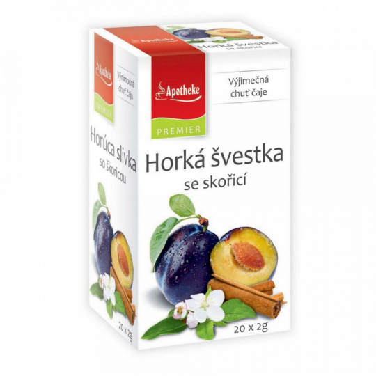 Apotheke PREMIER Horká švestka se skořicí čaj 20x2g