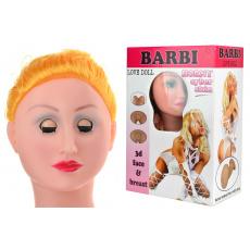 Nafukovací panna s 3D hlavou - Barbi