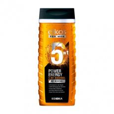 Elkos Men Power energy sprchový gel s mentolem 5v1 300ml