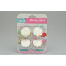 Set 4ks cukrářských razítek na marcipán (4cm) QLUX - Bílý