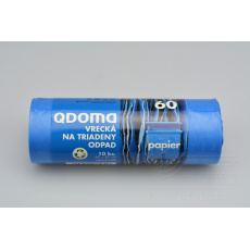 Pytle na papírový odpad QDOMA 10ks (60x80cm) 60l