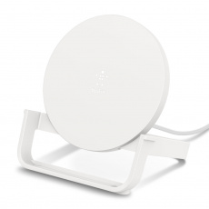 BELKIN 10W Qi nabíjecí stojan s microUSB kabelem a adaptérem, bílý