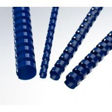 Plastové hřbety 14 mm, modré