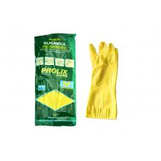 Rukavice gumové pro domácnost - Velikost M žluté