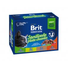 Brit Premium Cat Pouches Sterile Plate 12x100 g 5+1 ZDARMA