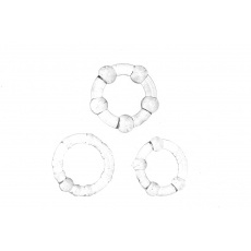Kroužky na penis (2-2.5-3cm) - Sada 3ks, čirá