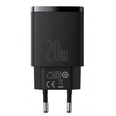 Baseus CCXJ-B01 Compact Quick Nabíječka USB/USB-C 20W Black