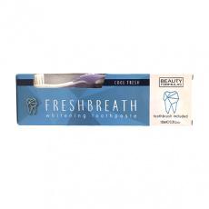 BEAUTY FORMULAS sada bělící zubní pasty s kartáčkem 100ml