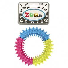 Hračka pro psy barevné kolečko s ostny 9cm